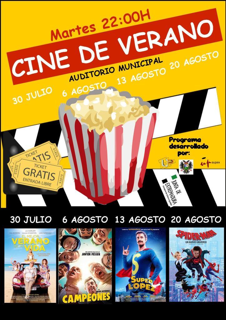 Cartel Cine de Verano 2019