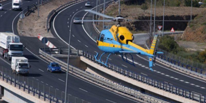 DGT, helicóptero, Pegasus, multa, ciclistas, reglamento,