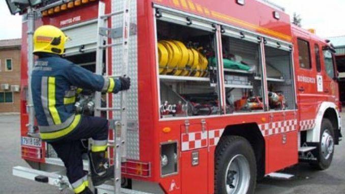 incendia, camión, transportaba, baterías, GI-673,