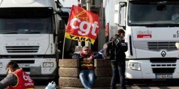 huelga, transporte, carreteras, Francia, 7 de diciembre,