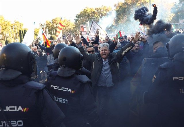 Antidisturbios, Taxistas, Congreso,