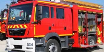 incendia, camión, área, servicio, AP-68, Logroño,