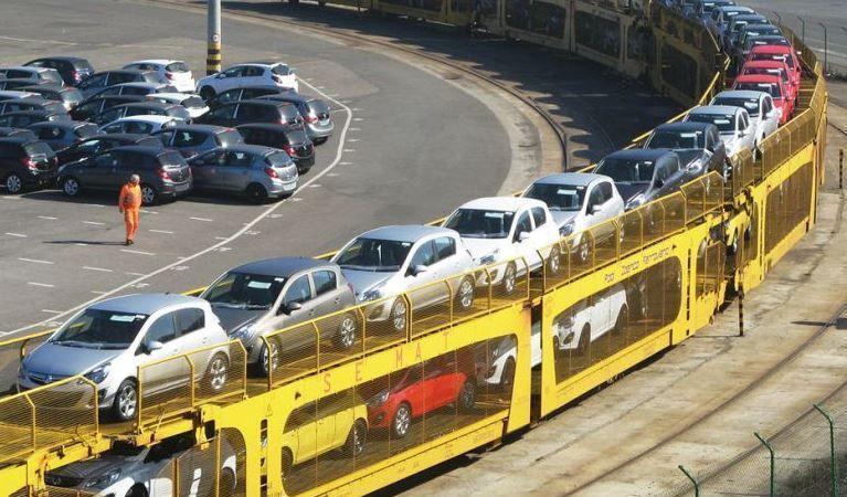 transporte, vehículos, ferrocarril, cayó,