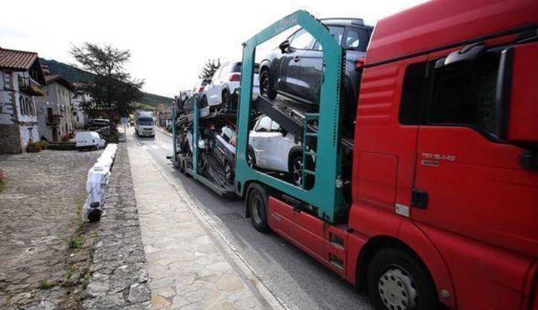 ANET, Tradisna, rechazo, desvío, tráfico, N-121-A, camiones,