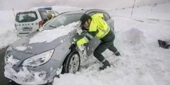 carta, agente, Guardia Civil, temporal, nieve,