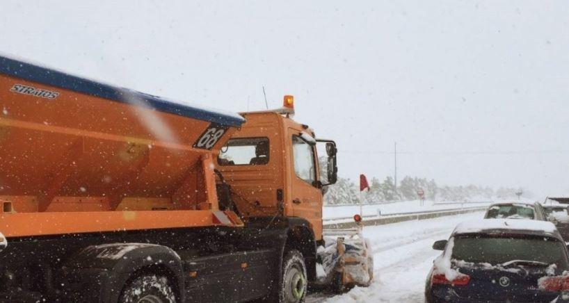 Catalunya, restringido, tráfico, camiones, nieve,