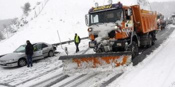 maquinas, temporal, fundentes, nieve,