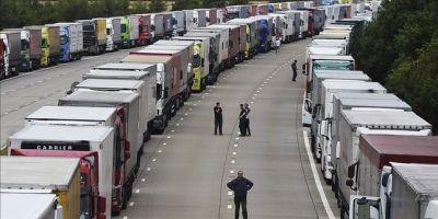 Brexit, atasco, Calais, camiones, puerto, Eurotunel, camiones,