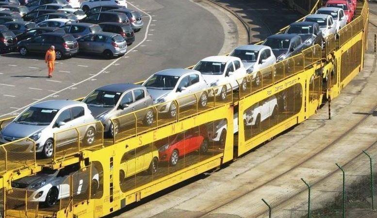 sistema, automatiza, transporte, automóviles, fábricas, tren,