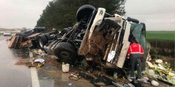 herido, grave, conductor, camión, AP-15,