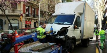 camión, frenos, Barcelona, atropello, personas,