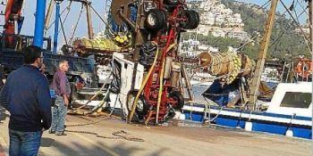 Andratx, cofradía cae, mar, camión, accidente, pescadores,