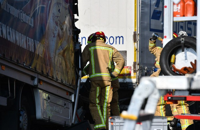 fallece, camionero, A-67, Holanda,