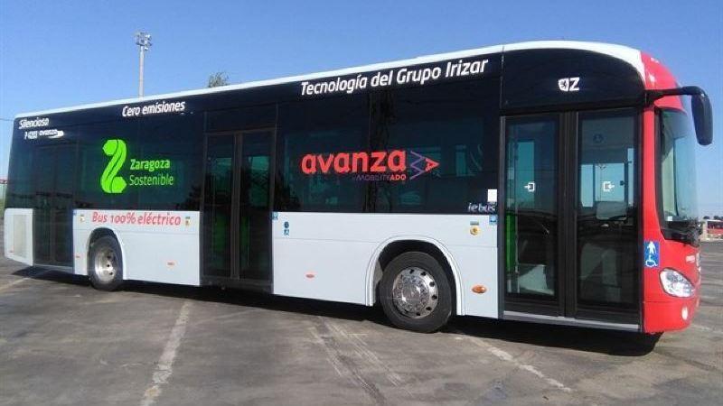 autobús, pruebas, eléctrico, Zaragoza,
