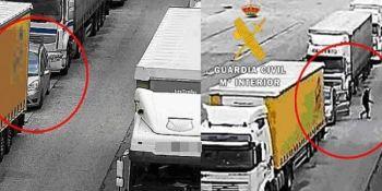 mercancías, detenidos, investigados, robo, camiones, Burgos,