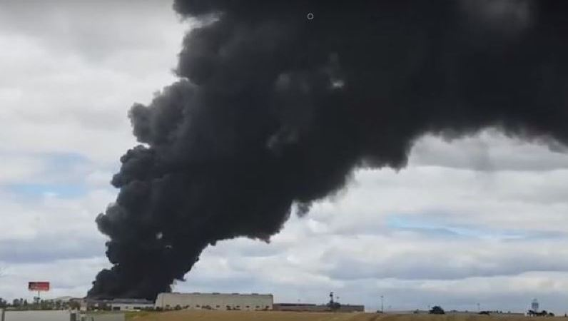 incendio, polígono, Niebla, Huelva,