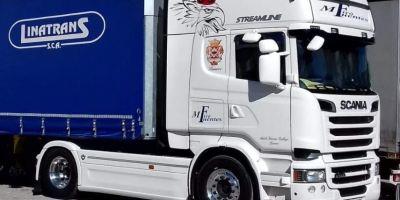 camión, robado, Cooperativa, Linatrans, Scania, Blanco, localización, avisos,