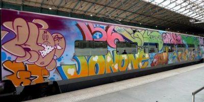 detenidos, grafiteros, delitos, daños,
