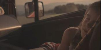 viaje. camion, padre, hija, corazones,, espectadores, mundo