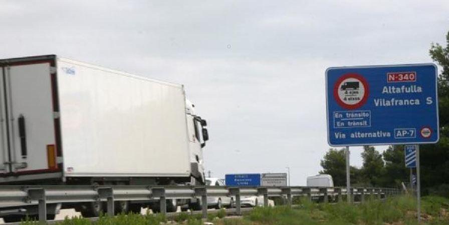 movilizaciones, transportistas, Tarragona, desvío, camiones,