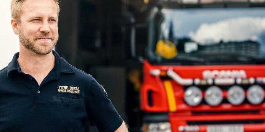 fuegos, Suecia, verano, 2018, camiones, Scania, bomberos,