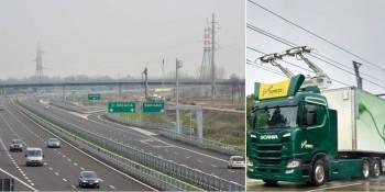 Scania, electrificación de carreteras, Italia,