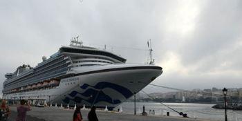 Sapphire Princess, crucero, grande, mundo, Ceuta,