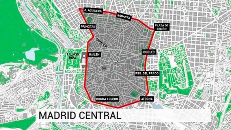 vehículos, reparto, distintivo, ambiental, entrar, Madrid, central,