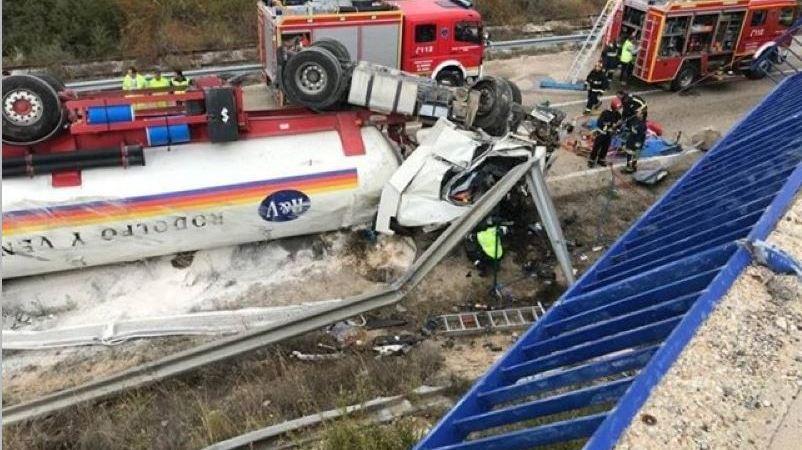 heridos, vuelco, camión, N-122, Soria,