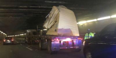 camión, túnel, Boston, contenedor, bajo,,