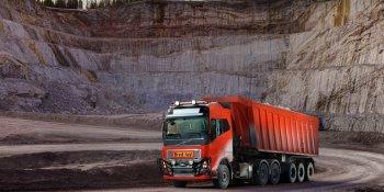 Bronnoy Kalk, Volvo, suministra. solución, transporte, autónomo,