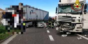 fallece, camionero, colisión, tres, camiones,