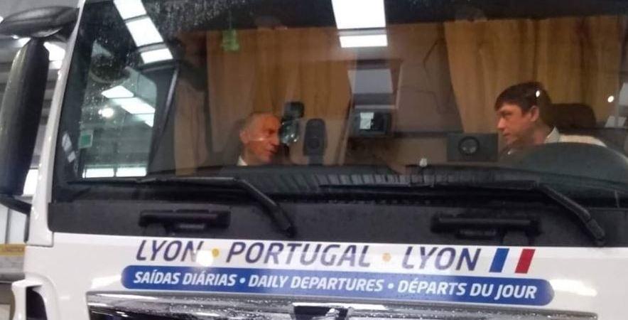 presidente, Portugal, camión, viaje, conocer, problemas, sector, camioneros,