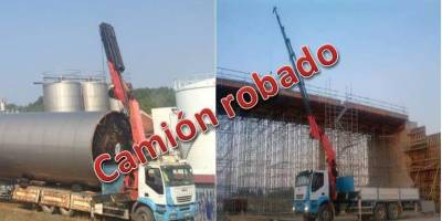 camión, grúa, robado, Palencia, ayuda, localización,