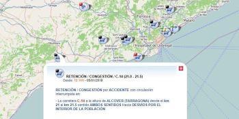 C-14, fallece, conductora, colisión, camión, turismo, Alcover, Tarragona,