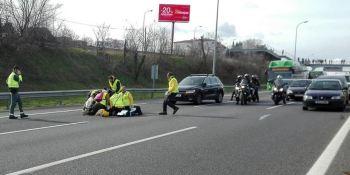 taxista, arrollado, Barcelona, N-II, coche, fuga,