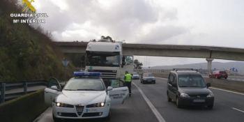 Pontevedra, interceptado, camión, manipulación, AdBlue,