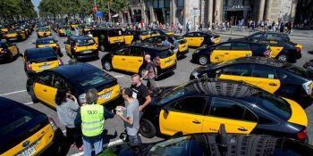 Huelga, indefinida, taxistas, barcelona, noticias, sector, laboral, conflicto, sociedad,