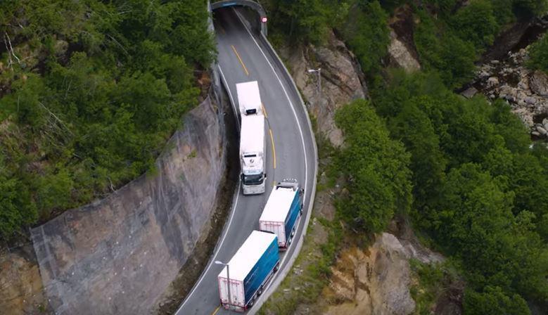transporte, pescado, Volvo, fiordos, noruegos, transporte, curiosidades, vídeo, transporte internacional, empresas, fabricantes del sector,