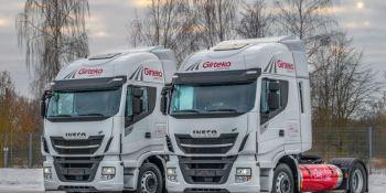 Girteka Logística, prueba, camiones, Iveco, GNL, empresas, logística y almacenaje, transporte internacional,