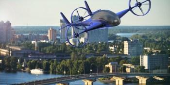 taxi, volador, finalmente, hacer, realidad, deseo, coche,