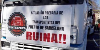marcha, lenta, camiones, Barcelona, reclamar, mejoras, laborales,