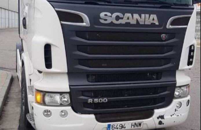 aparece, camión, robado, logística, Ezquerro,