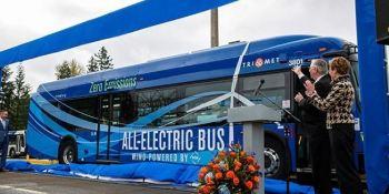 autobuses, eléctricos, Oregon, EE.UU., TriMet, otros transportes, autobús, internacional,