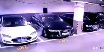 Shanghái, vídeo, Tesla, investigará, explosión, coches,