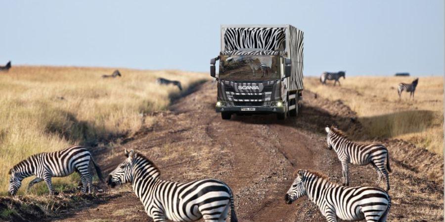 Scania L, safari, Kenia,