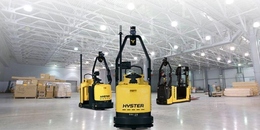 Hyster Europe, carretillas, elevadoras, robotizadas, presentación, feria, empresas, logística y almacenaje,