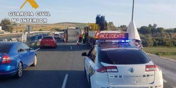investigado, camionero, positivo, alcohol, volcar, vehículo, A-4,