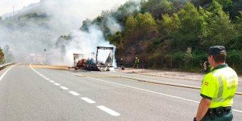 incendio, camión, N-121-A, reabierto, túneles,
