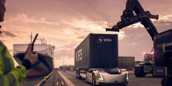 Vera, vehículo, autónomo, Volvo Trucks, puerto, Gotemburgo,